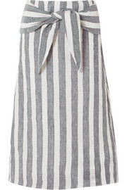 J.Crew Shipwreck striped linen midi skirt