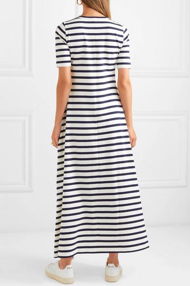 575a52d77f4 J.Crew. Sunset striped cotton-jersey maxi dress. €114.60 €81.3130% OFF. Play