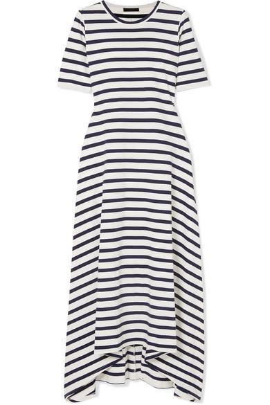J.Crew - Sunset Striped Cotton-jersey Maxi Dress - White