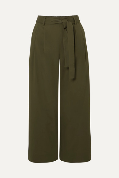 J.Crew - Stretch-cotton Poplin Cropped Pants - Green
