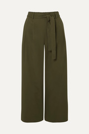 J.Crew Stretch-cotton poplin cropped pants