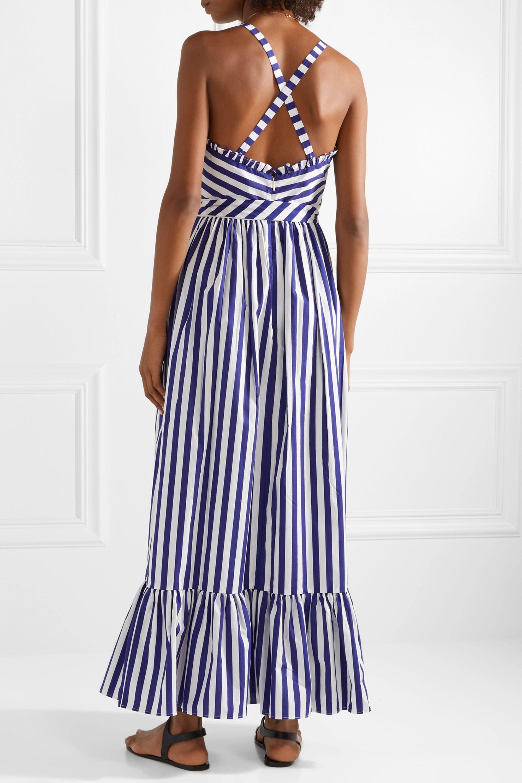 J.Crew Ruffled striped cotton-poplin maxi dress