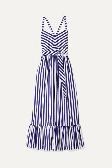 e73159387a J.Crew | Ruffled striped cotton-poplin maxi dress | NET-A-PORTER.COM