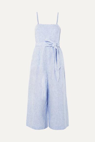 J.Crew - Marseille Striped Linen Jumpsuit - Blue