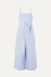 J.Crew Marseille striped linen jumpsuit