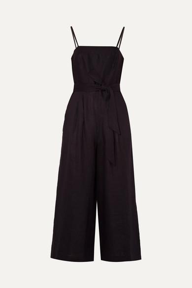 J.Crew - Marseille Belted Linen Jumpsuit - Black