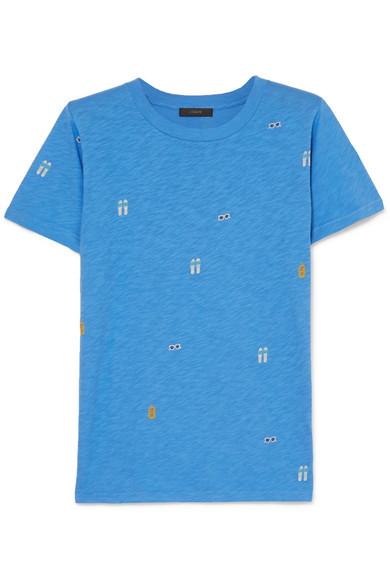 J.Crew - Tossed Printed Slub Cotton-jersey T-shirt - Blue