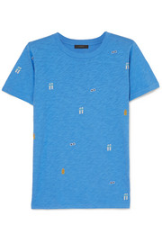 J.Crew Tossed printed slub cotton-jersey T-shirt