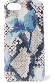 Printed snake-effect leather iPhone 7 and 8 case