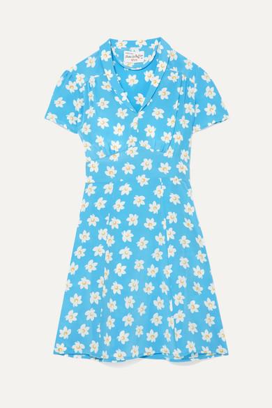 Lou Printed Silk-Crepe Mini Dress HVN fa6Xd
