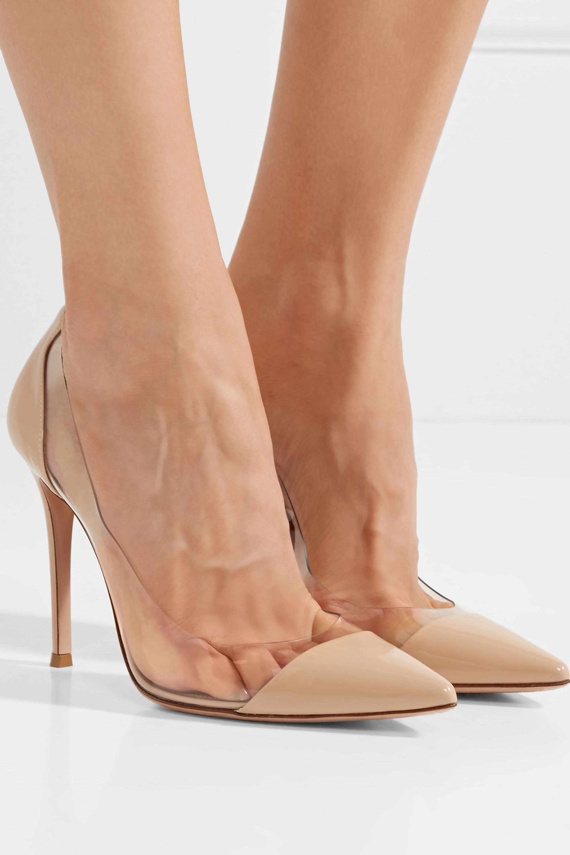 Beige Plexi 105 patent-leather and PVC