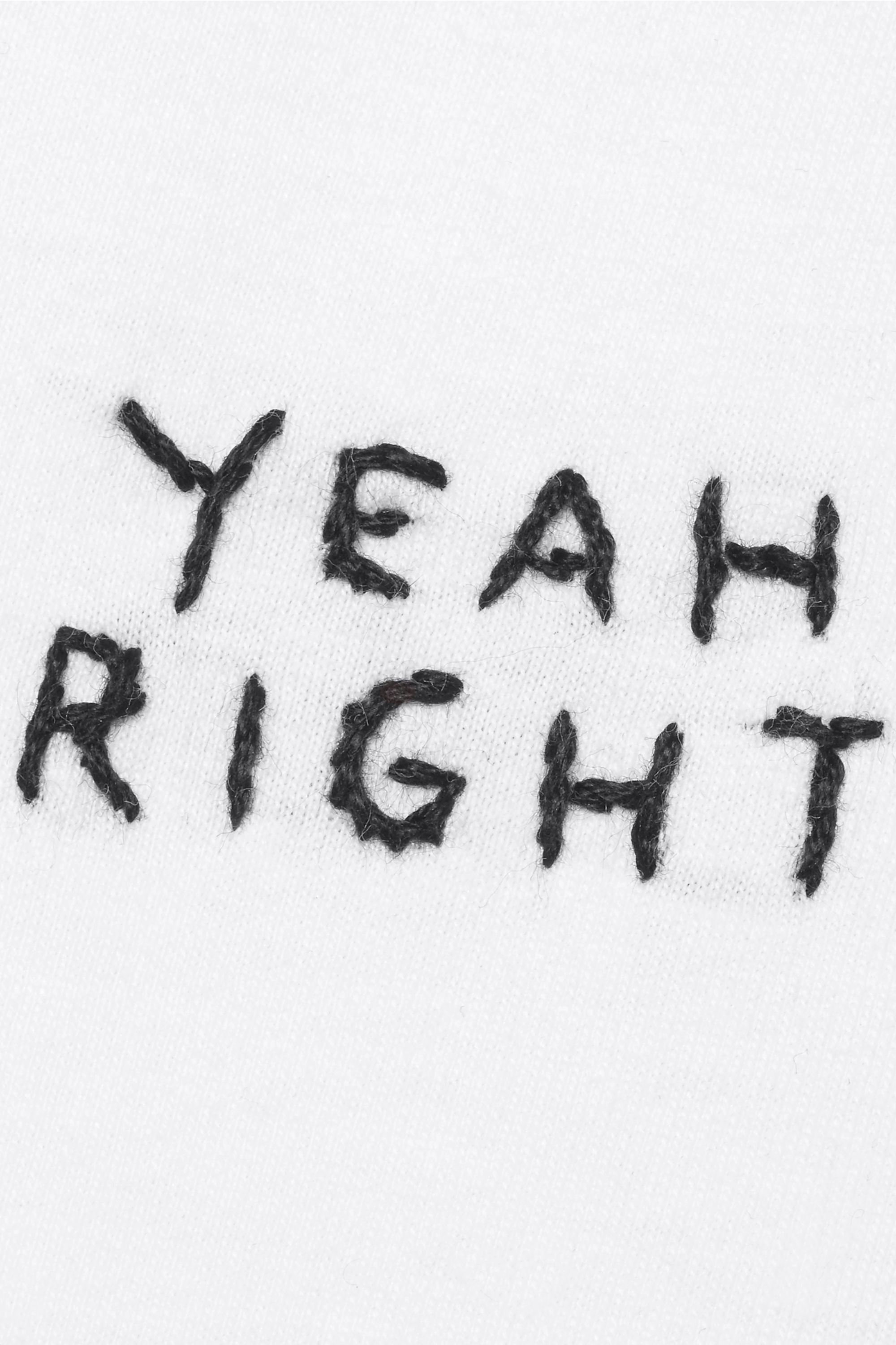 YEAH RIGHT NYC Yeah Right embroidered cotton-jersey T-shirt