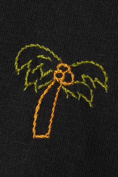 YEAH RIGHT NYC Palm Tree Kapuzenoberteil aus einer Baumwollmischung mit Stickerei
