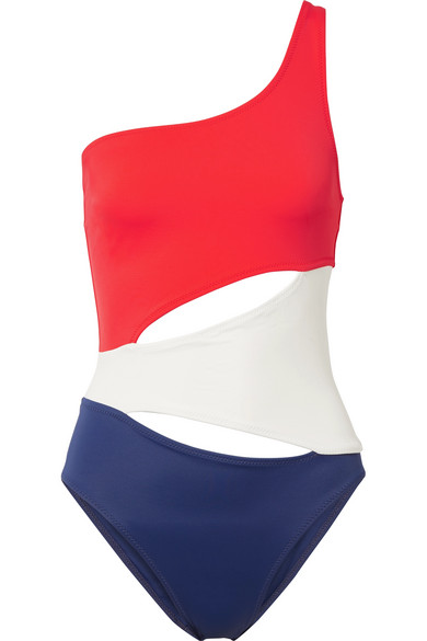 4d036327544 Solid & Striped | The Louise one-shoulder cutout swimsuit | NET-A ...