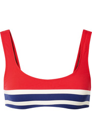 Solid & Striped The Elle striped stretch bikini top