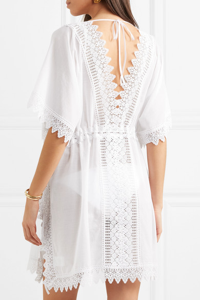 Cheap Sale Browse Alaya Crocheted Lace-paneled Cotton-blend Kaftan - White Charo Ruiz Ibiza Outlet Discounts Clearance Prices iyNWcbByJl