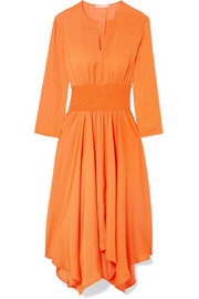 Maje Shirred voile midi dress