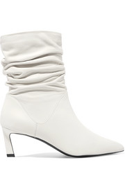 Demibenatar ruched leather boots