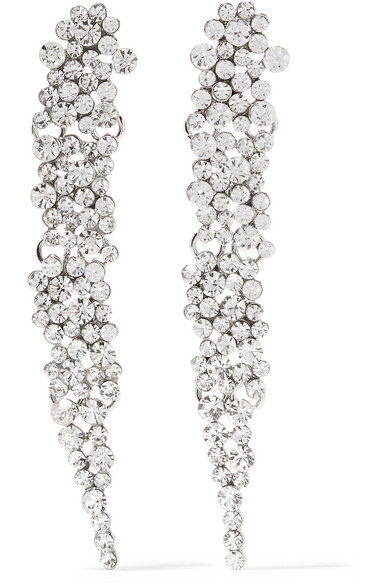 Kenneth Jay Lane Silver-tone Crystal Clip Earrings jD6meb3s