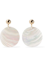 Gold-plated faux shell earrings