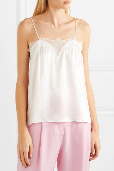 Cami Nyc Sweetheart Top Lace And Braid From Silk-charmeuse With