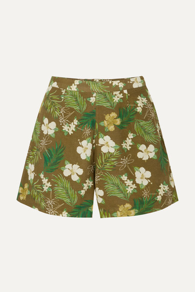 MIGUELINA AXA PRINTED COTTON-VOILE SHORTS