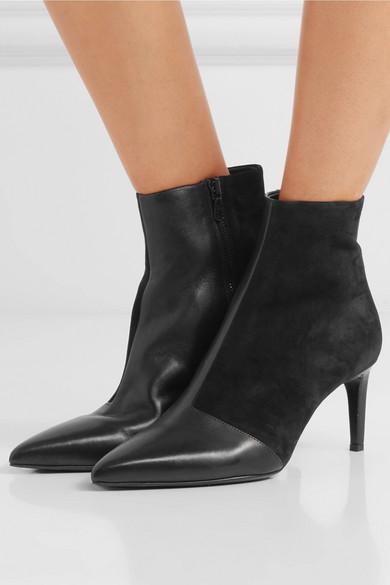 rag & bone Leder | Beha Ankle Boots aus Leder bone und Veloursleder 0513bb