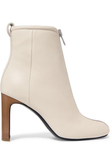 Ellis Leather Ankle Boots - Ivorybone Size 10