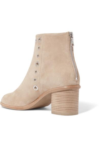 rag & bone Boots | Willow verzierte Ankle Boots bone aus Veloursleder 9a73e6