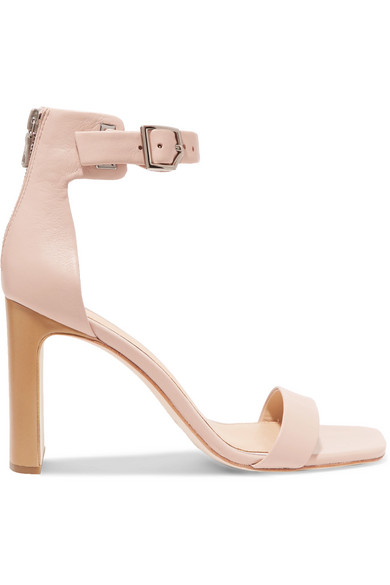Ellis Leather Ankle-Wrap Sandal in Neutral