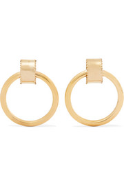 Ruota gold-tone hoop earrings
