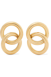 Interlock gold-tone earrings