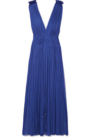 Elena Makri Vereniki pleated silk-tulle midi dress