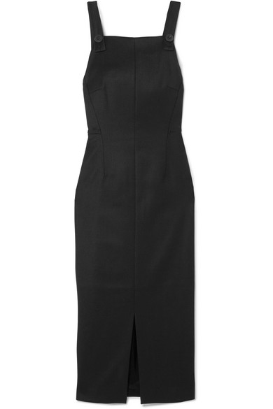 CEFINN Twill Midi Dress in Black