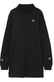 + Champion Molly oversized appliquéd stretch-cotton jersey mini dress