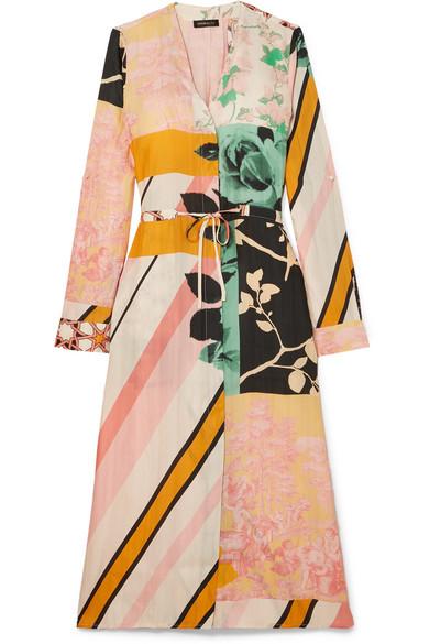 Camilla Printed Satin Twill Dress by Stine Goya