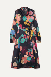 Stine Goya Reflection floral-print silk-blend satin wrap dress