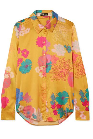 7cf40f8f008 Stine Goya | Maxwell floral-print silk-blend charmeuse shirt | NET-A ...