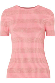Pablo striped ribbed cotton-blend top