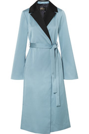 Leanne two-tone hammered-satin coat