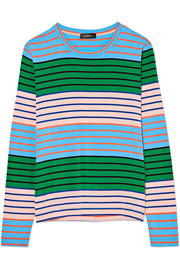 Maya striped stretch-jersey top