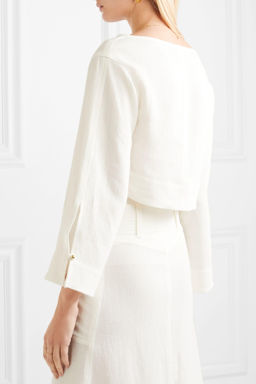 Le Kasha Cairo cropped linen top
