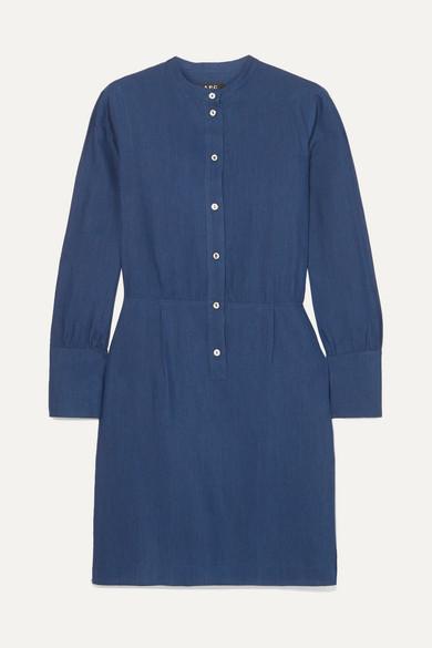 Kimya Jacquard Mini Dress in Navy