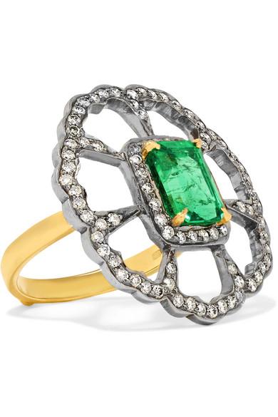 18-karat Gold And Platinum Multi-stone Ring - 6 Amrapali W0aKkUdc3