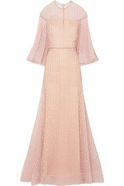 Ralph & Russo Crystal-embellished embroidered silk-blend tulle gown