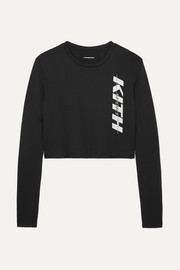 Kith Sam cropped printed mesh top
