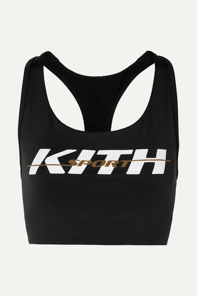 ac7700be62 Kith. Brie printed stretch-jersey sports bra