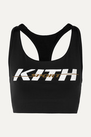 Kith Brie printed stretch-jersey sports bra