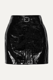 Toni patent-leather mini skirt