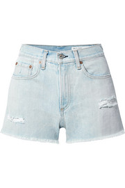 Justine distressed denim shorts